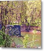 The Once And Former Bridge Metal Print