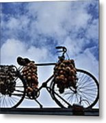 The Onion Bicycle Metal Print