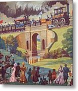 The Opening Of The Stockton And Darlington Railway Macmillan Poster Metal Print by Norman Howard