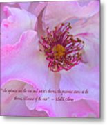 The Optimist Sees The Rose Metal Print