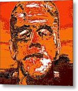The Orange Monster Metal Print