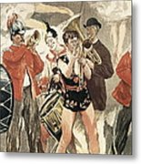 The Orchestra Of The Circus. 1888-1889 Metal Print