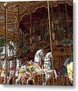 The Original French Carousel Metal Print