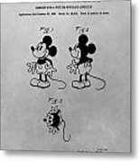 The Original Mickey Mouse Patent Design Metal Print