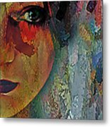 The Other Left Abstract Portrait Metal Print