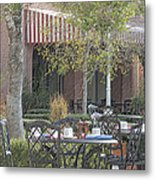 The Outdoor Cafe Metal Print