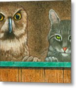 The Owl And The Pussycat... Metal Print