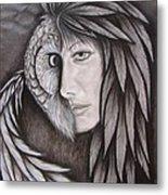 The Owl In Me Metal Print