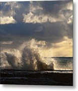 The Pacific Calms Down Metal Print