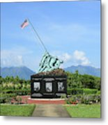 The Pacific War Memorial On Marine Metal Print