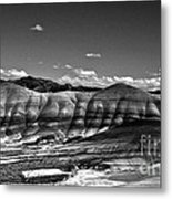 The Painted Hills Bw Metal Print