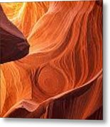 The Painted Rocks Of Lower Antelope Canyon Metal Print