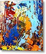 The Painting Has A Life Of Its Own. I Try To Let It Come Through. Jackson Pollock   Metal Print