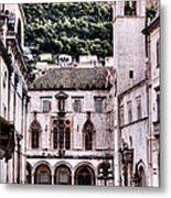The Palace And The Tower Metal Print