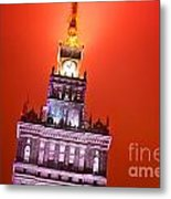 The Palace Of Culture And Science Warsaw Poland  Metal Print by Michal Bednarek