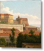 The Palazzo Reale And The Harbor. Naples Metal Print
