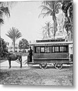 The Palm Beach Trolley Metal Print