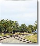The Palms By The Tracks Metal Print