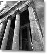 The Pantheon In Rome Bw Metal Print