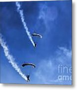 The Parachutists V5 Metal Print