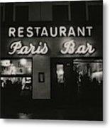 The Paris Bar Metal Print