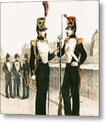 The Parisian Municipale Guard, Formed 29th July 1830 Coloured Engraving Metal Print