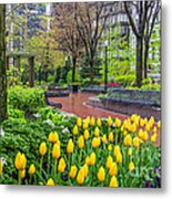 The Park At Post Office Square Metal Print