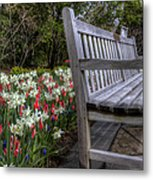 The Park Bench Metal Print