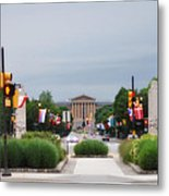 The Parkway And Art Museum Metal Print