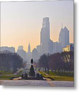 The Parkway In The Morning Metal Print