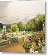 The Parterre Harewood House Near Leeds Metal Print