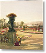 The Parterre  Trentham Hall Gardens Metal Print
