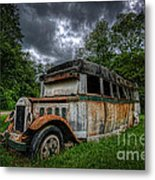 The Party Bus Metal Print