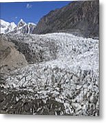 The Passu Glacier And Mountains Metal Print