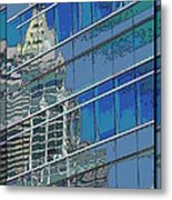 The Past Reflecting On The Present Metal Print