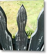 The Patchy Fence  Metal Print