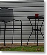 The Patio In Living Color Metal Print