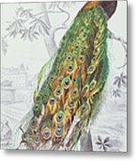 The Peacock Metal Print