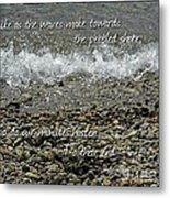 The Pebbled Shore 2 Metal Print