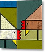 The Pecking Order Metal Print by Kenneth North