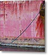 The Peggy Palmer Barge Metal Print
