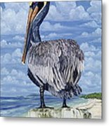 The Pelican Perch Metal Print