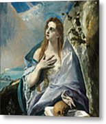 The Penitent Mary Magdalene Metal Print