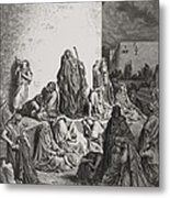 The People Mourning Over The Ruins Of Jerusalem Metal Print