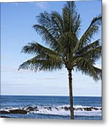 The Perfect Palm Tree - Sunset Beach Oahu Hawaii Metal Print