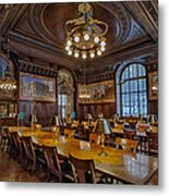 The Periodical Room At The New York Public Library Metal Print by Susan Candelario