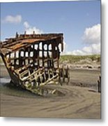 The Peter Iredale Shipwreck 2 Color Metal Print
