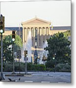 The Philadelphia Art Museum From The Parkway Metal Print