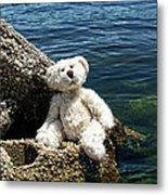 The Philosopher - Teddy Bear Art By William Patrick And Sharon Cummings Metal Print by Sharon Cummings