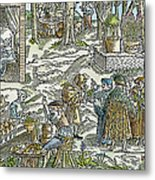 The Physic Garden, 1531 Metal Print